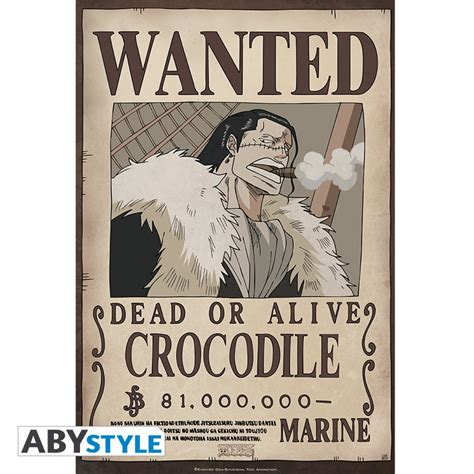 Poster Wanted One one poster wanted crocodile 52 x 35 cm abystyle
