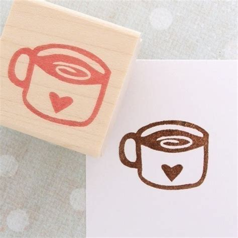 Cup Of Coffee Rubber St By Craftpudding On Etsy
