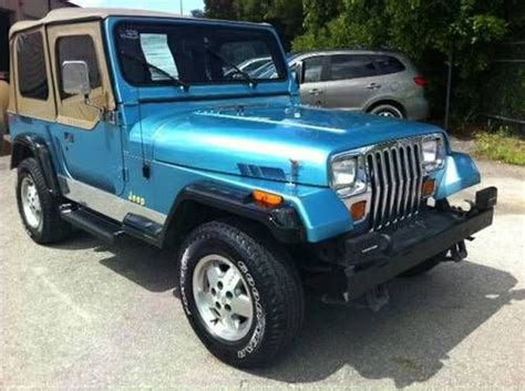 Jeep Wrangler Grande Buy Used 1995 Jeep Wrangler 4x4 V6 Grande Edition