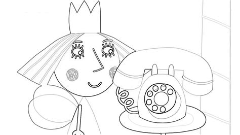 princess holly coloring page ben and holly s little kingdom princess holly how to