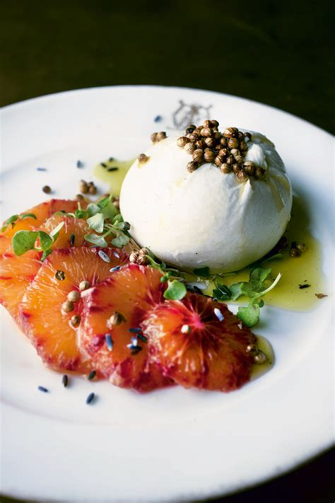 Are Recipes By Chefs More Complicated Than Those By Chefs by Burrata With Blood Orange And Lavender Recipe From