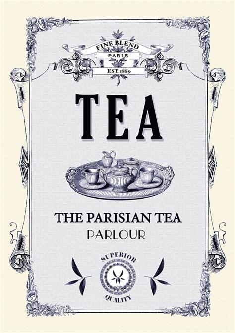 tea kitchen poster paris print kitchen art shabby chic