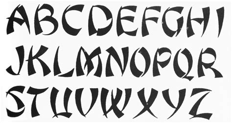 different tattoo fonts images for gt the alphabet in different fonts alphabets