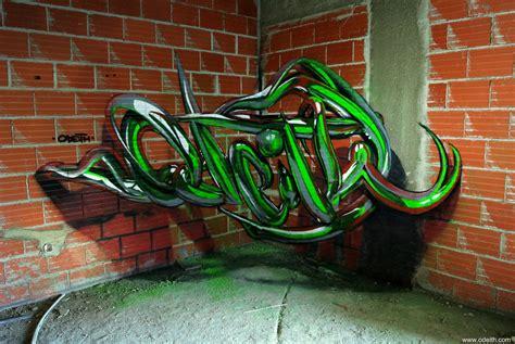 incredible  graffiti illusions  portuguese artist