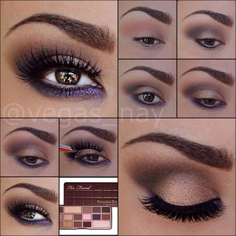 eyeshadow tutorial using too faced too faced the chocolate bar eye shadow palette