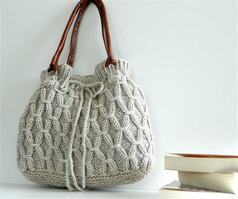 knitting patterns for bags and purses bag nzlbags beige ecru knitted bag handbag shoulder by nzlbags
