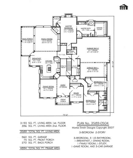 Amazing 3 Story House Plan And Elevation 3521 Sq Ft Storey