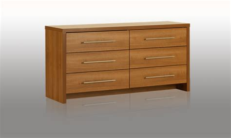 bedroom drawer modular bedroom walnut 6 drawer wide chest review