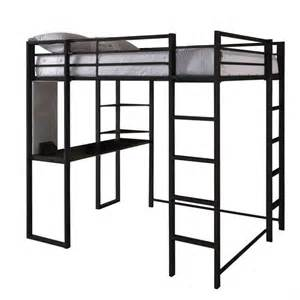dhp abode full size metal loft bed black ebay