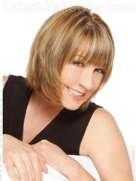 mid lengh hairstyles for over 50 with fringe best hairstyles for women over 50 dmaz