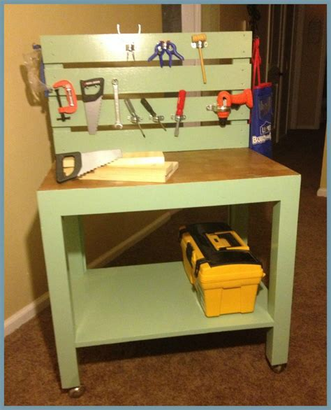 diy kids work bench diy kids workbench painted vintage