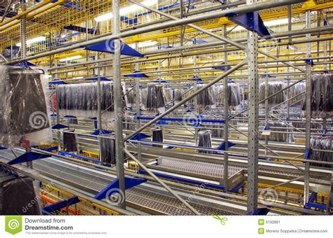 automatic clothing warehouse stock image image 5192861