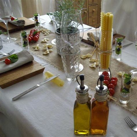 table decor items party table decoration ideas celebrate italian theme with