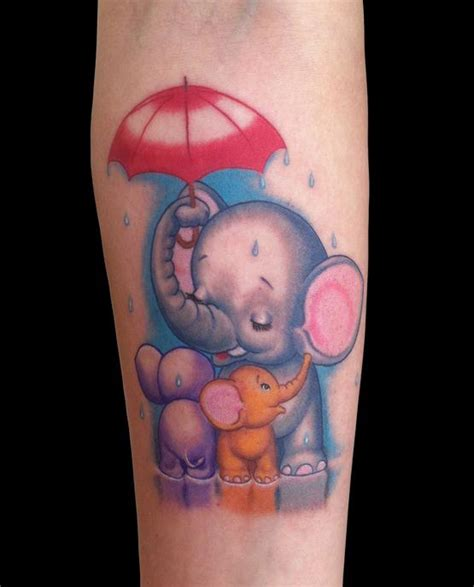 tattoo baby family cute elephant family by marc durrant tattoonow