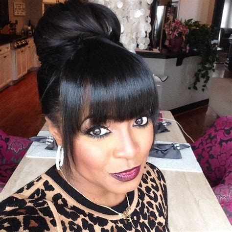 cute buns using weave keshia knight pulliam guess which day it is humpday