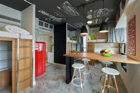 Small Home Interior Design Hong Kong Shared Apartment For Students With A High Dose Of