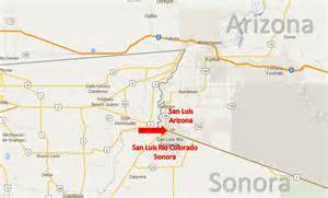 san luis arizona map san luis arizona san luis colorado sonora on the