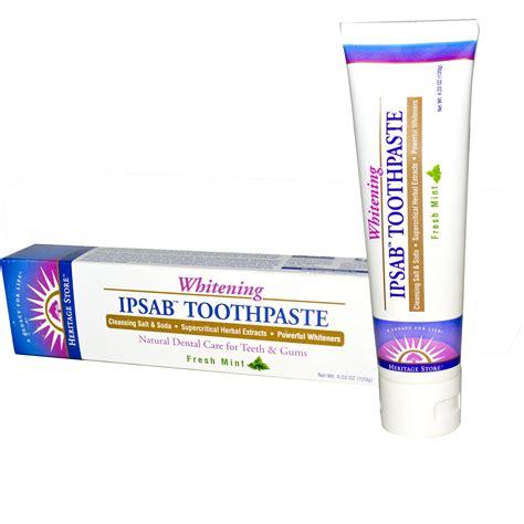 toothpaste whitening heritage products ipsab whitening toothpaste fresh mint