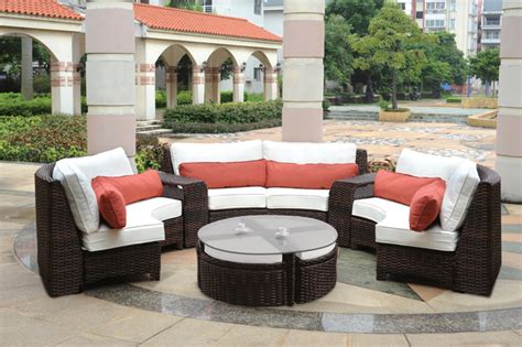 modern wicker patio furniture modern wicker sectionals
