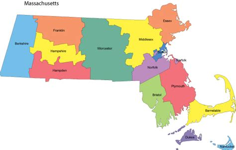 massachusetts county map massachusetts map with counties