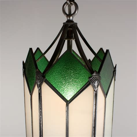 Stained Glass Pendant Lights Marvelous Deco Pendant Light With Original Stained Glass Nc1438 Rw For Sale Antiques