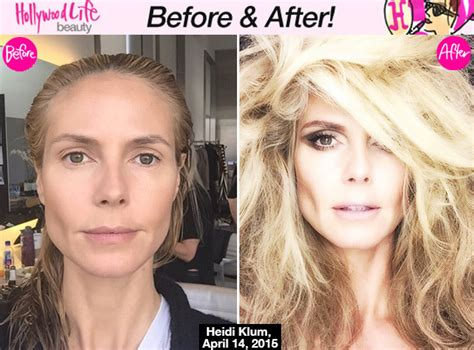 15 best images about before after makeup makeovers on pics heidi klum s makeover before after with makeup