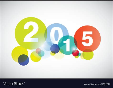 new year card 2015 vector happy new year 2015 card royalty free vector image