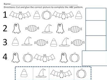 ab pattern words halloween pattern worksheets ab aab and abc patterns by