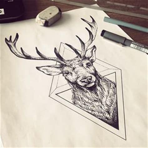 tattoo eyebrows red deer best 25 geometric deer ideas on pinterest