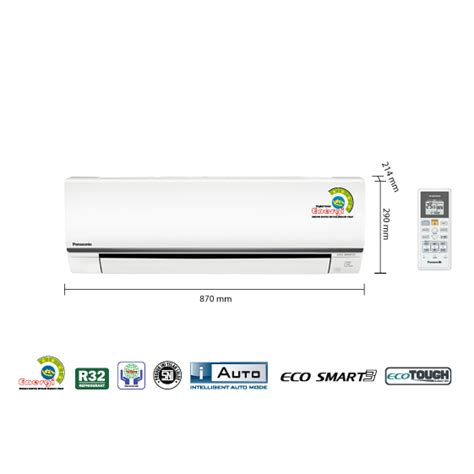 Ac 1 2 Pk Panasonic promo ac panasonic 1 2 pk low watt cs kn5skj freon r32