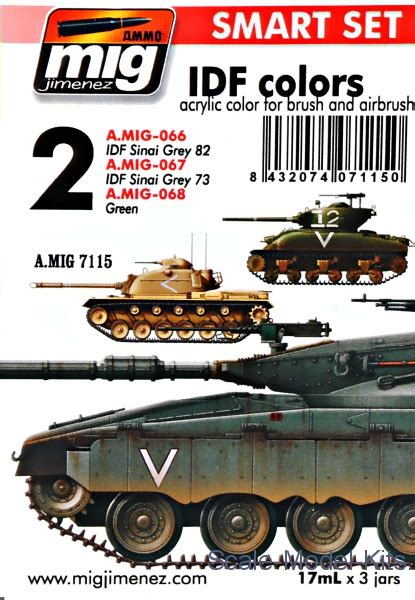 Vallejo 71142 Idf Sinai Grey 82 Model Kit Paint mig ammo smart set idf colors a mig 7115 plastic scale model kit in scale a mig 7115