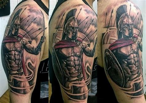 spartan tattoos for men 100 warrior tattoos for battle ready design ideas