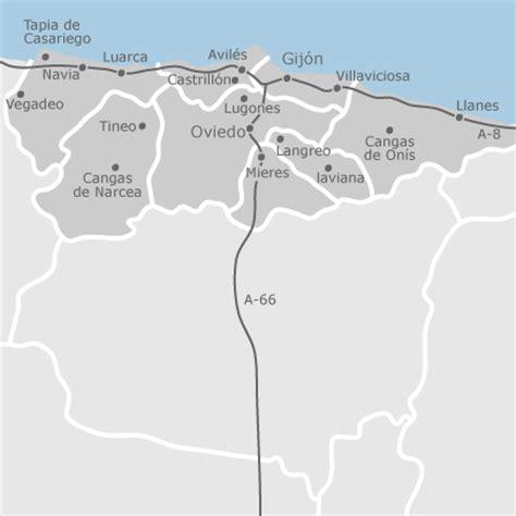 mapa de asturias provincia idealista