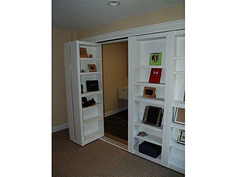 behind the door bookcase bookshelf closet doors in study can also provide a secret