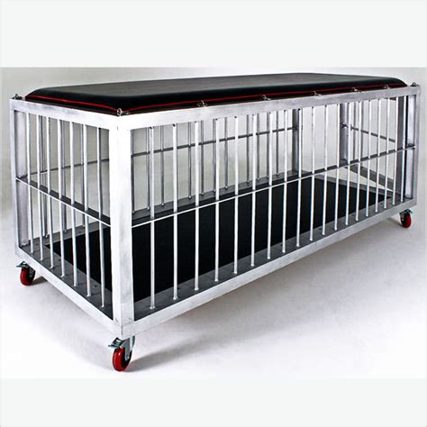 cage bed large aluminum cage bed on wheels