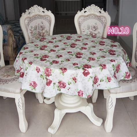 Taplak Meja Hias jual taplak meja bulat anti air motif bunga harga jual