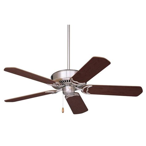 Zephyr Ceiling Fan illumine zephyr 52 in brushed steel indoor ceiling fan cli emm002786 the home depot
