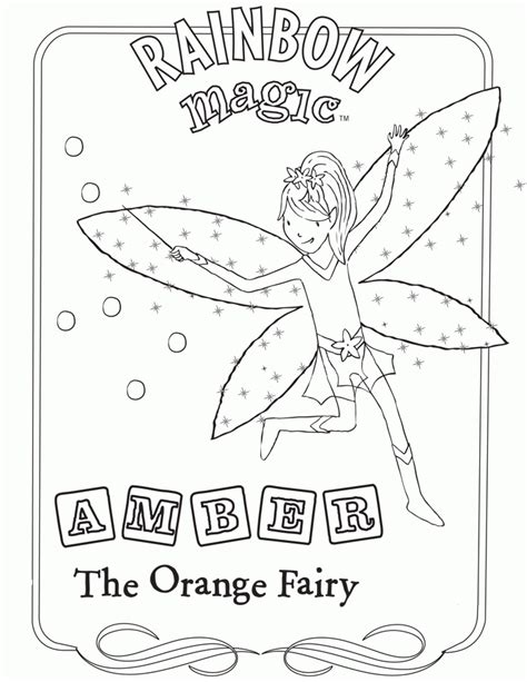 free rainbow magic fairies coloring pages
