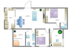 simple house floor plan building plan software edraw