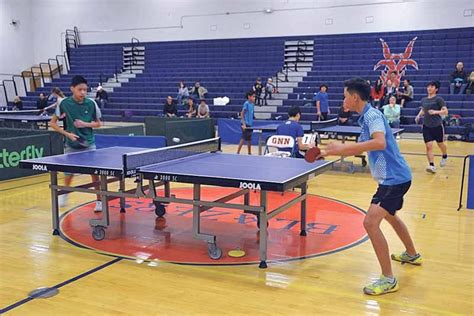 table tennis tournament at high great neck record