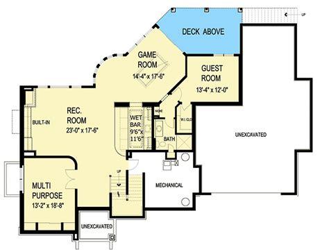 gourmet kitchen floor plans gourmet kitchen and optional lower level 20082ga
