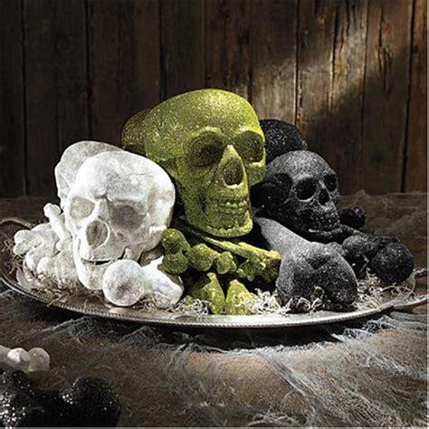 Skull Home Decorations Home Decor Martha Stewart Glittered Skull And Bones Set