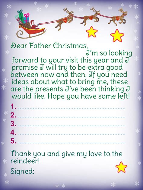 letters from father christmas 0007463375 letter to father christmas i promise to be good rooftop post printables