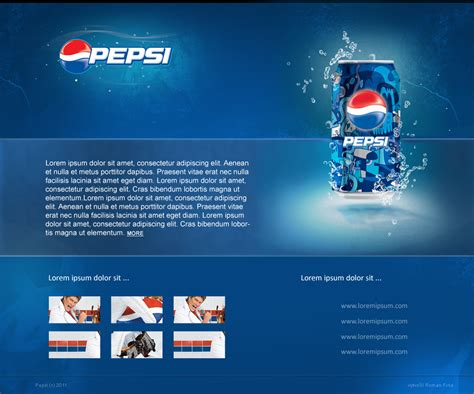 free minisite template pepsi minisite design by swift20 on deviantart