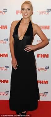 Helen Halter Neck Dress katching my i helen flanagan shows best assets in
