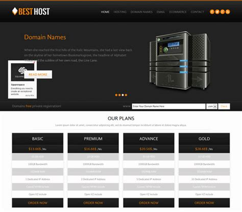 Free Hosting Templates 50 best hosting website templates free premium