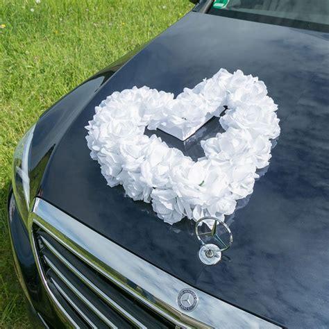 Autoschmuck Hochzeit by Autoschmuck F 252 R Eure Hochzeit Rosenherz In Wei 223 Bestellen