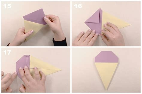 how to make an origami cone easy origami tutorial