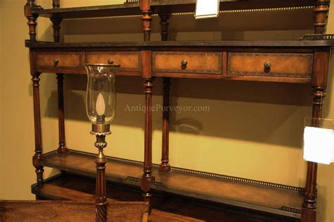 leather console table narrow leather louis xvi console table