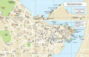 georgetown map map of george town 187 travel